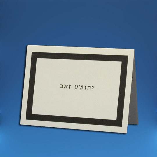 Jewish Hebrew English  Invitations - Thick Border Vellum TY