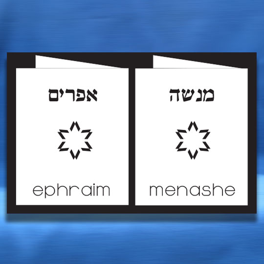 Jewish Hebrew English Bar Mitzvah Invitations - Double Twin Folder