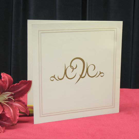 Jewish Hebrew English Wedding Invitations - Silk Square Twin Border