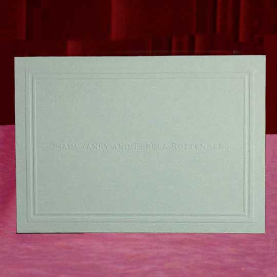 Custom Embossed Name Thank You