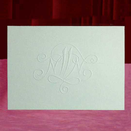 Custom Embossed Monogram Thank You