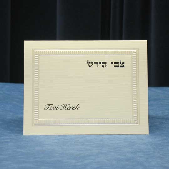 Jewish Hebrew English  Invitations - Ripple Border TY Folder